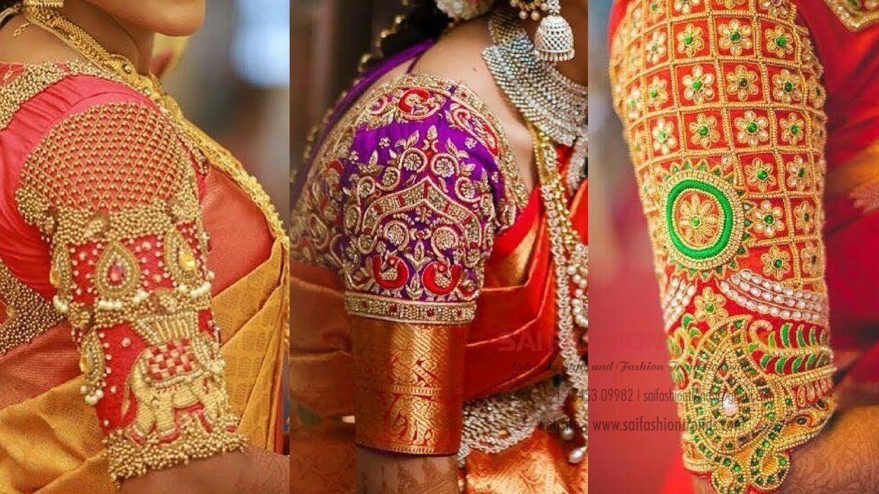Latest-top-Maggam-work-blouse-designs-for-wedding-saree
